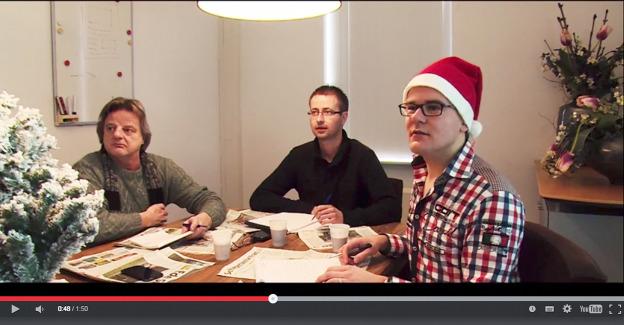 Beeld uit de kerstvideo van 'Midden 1'.