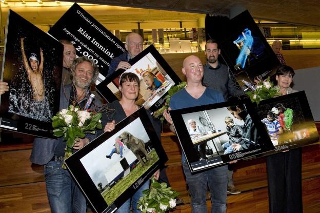 Apeldoorn 31-03-2016 Prijswinnaars Gelders Nieuwsfoto 2015, iov Stad Tiel. Foto Raphael Drent, Tiel.